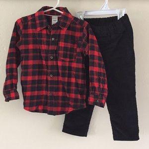 Carter's 2-piece Flannel & Pant Set